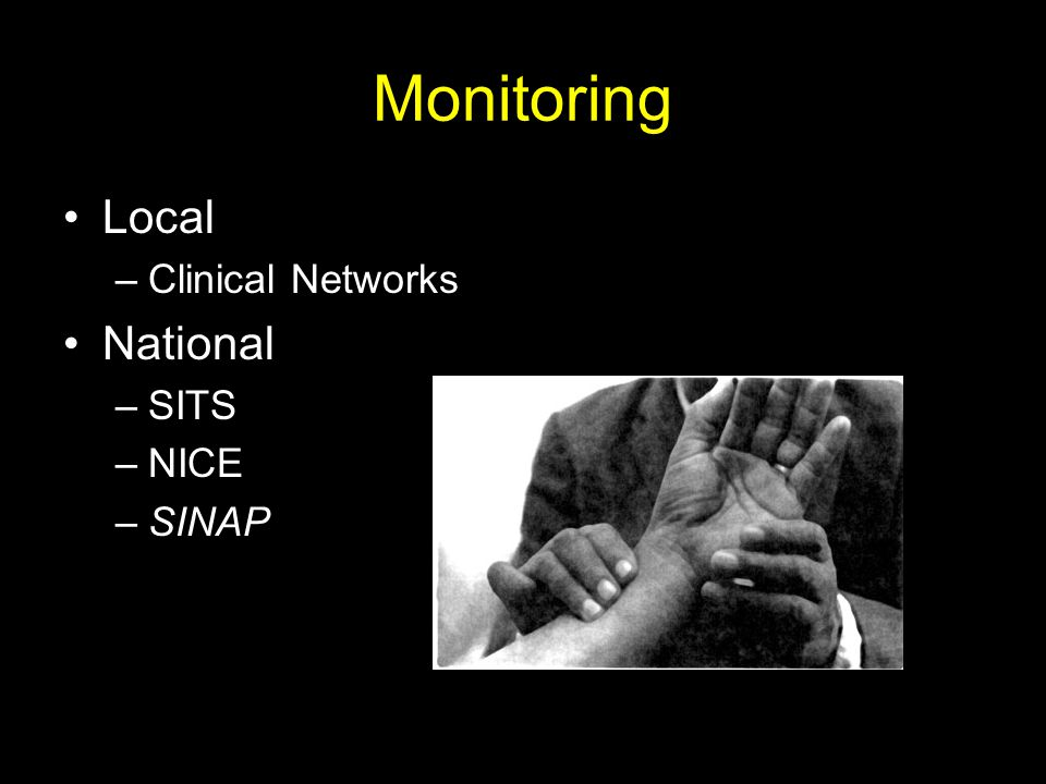 Monitoring Local Clinical Networks National SITS NICE SINAP