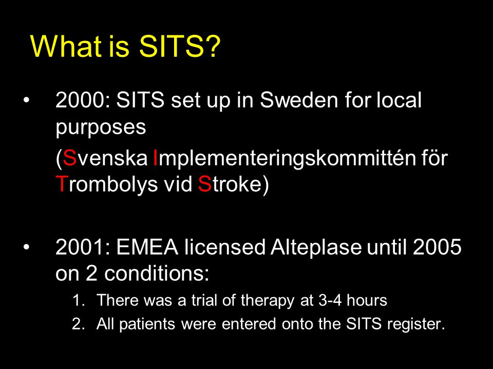 What is SITS 2000: SITS set up in Sweden for local purposes