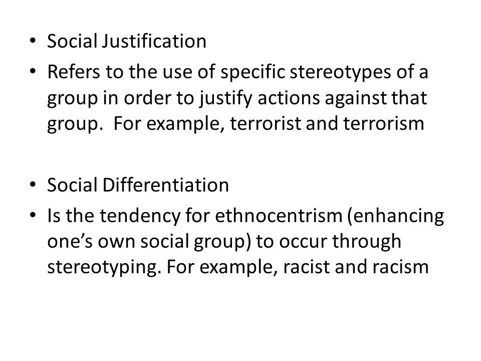 Social Justification