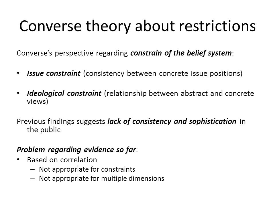 Converse theory about restrictions