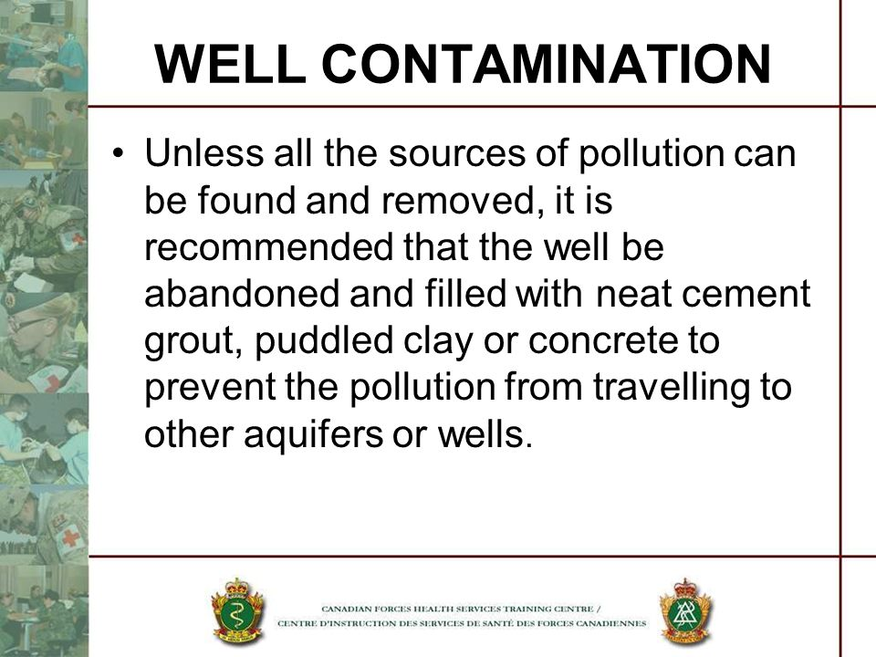WELL CONTAMINATION
