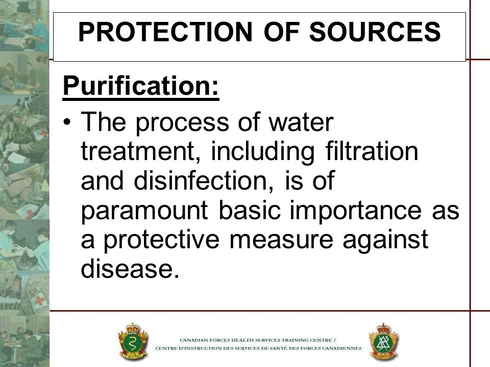 PROTECTION OF SOURCES Purification: