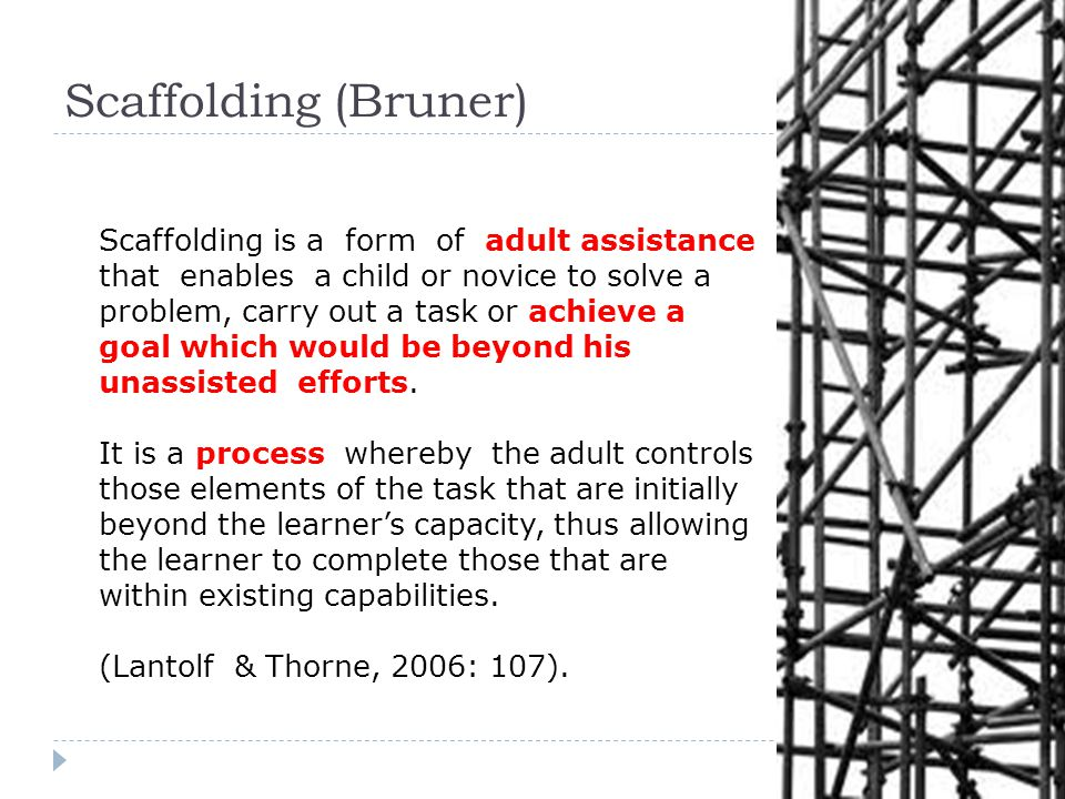 Scaffolding (Bruner)