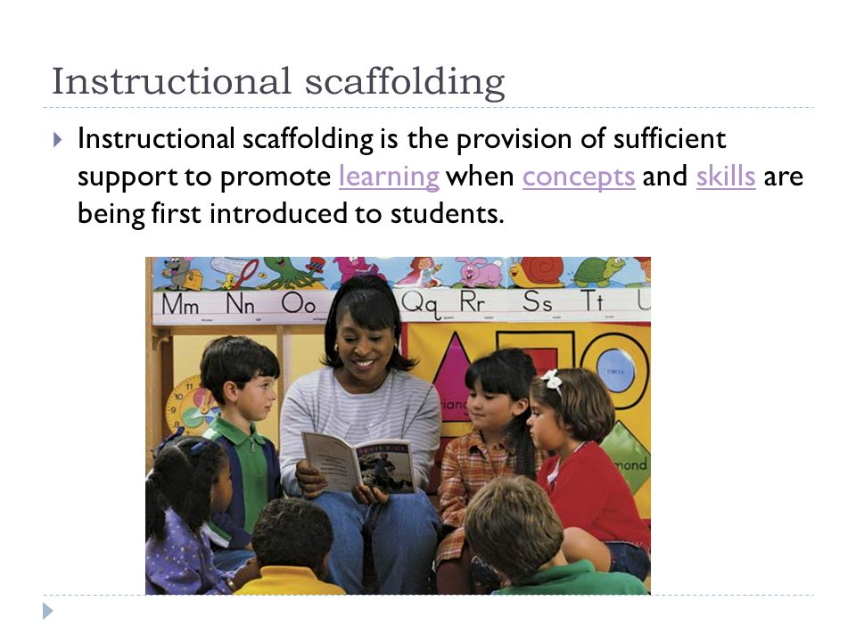 Instructional scaffolding