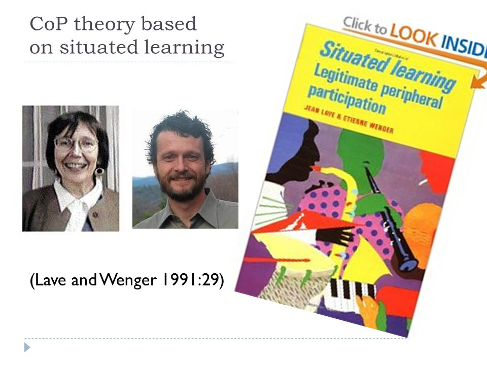 CoP theory based on situated learning