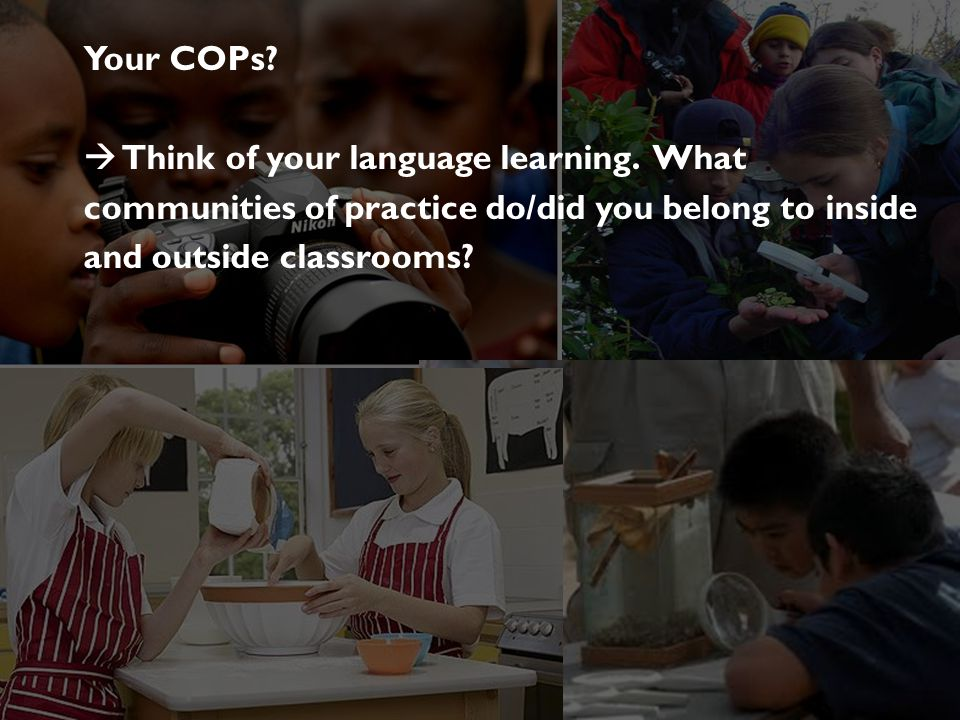  Think of your language learning. What