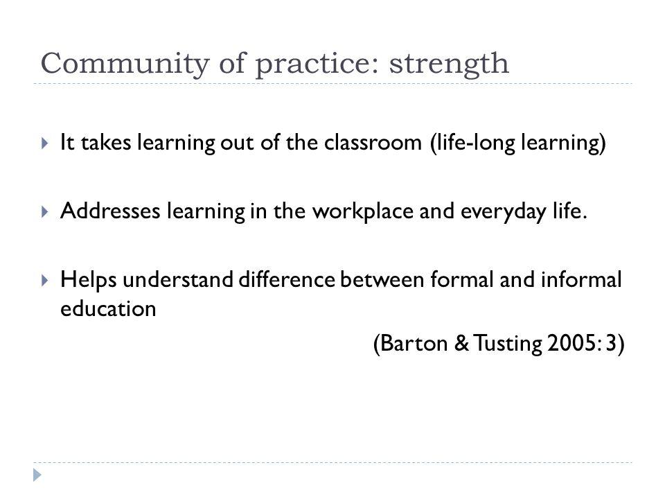 Community of practice: strength