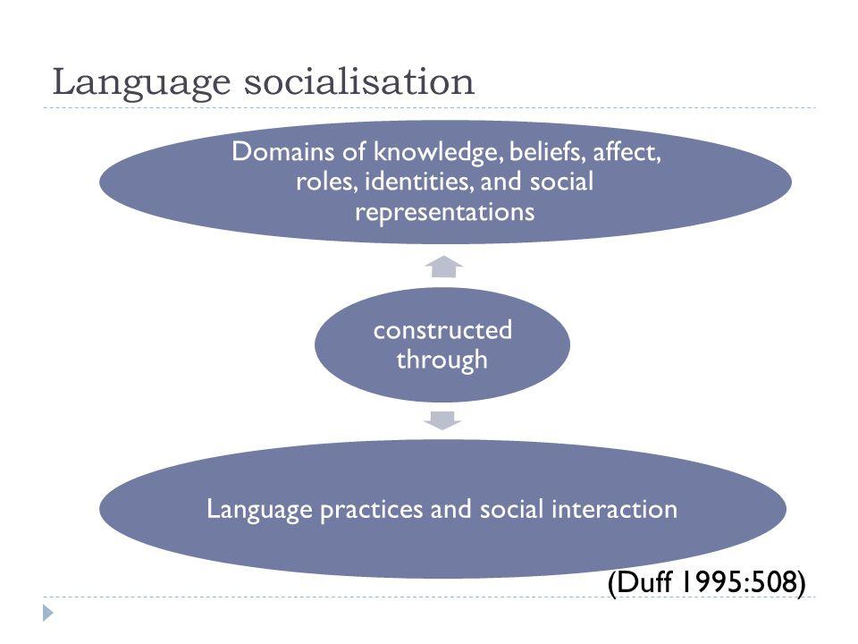 Language socialisation