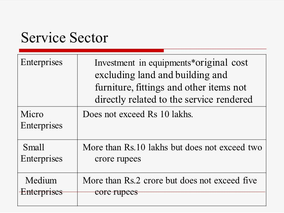 Service Sector Enterprises