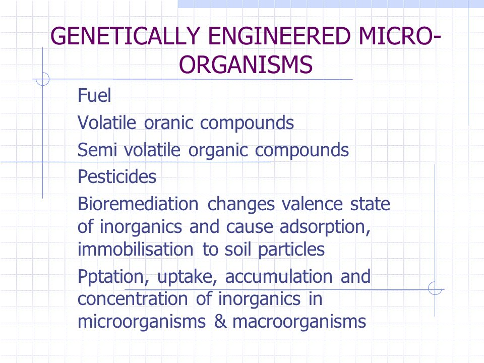 GENETICALLY ENGINEERED MICRO-ORGANISMS