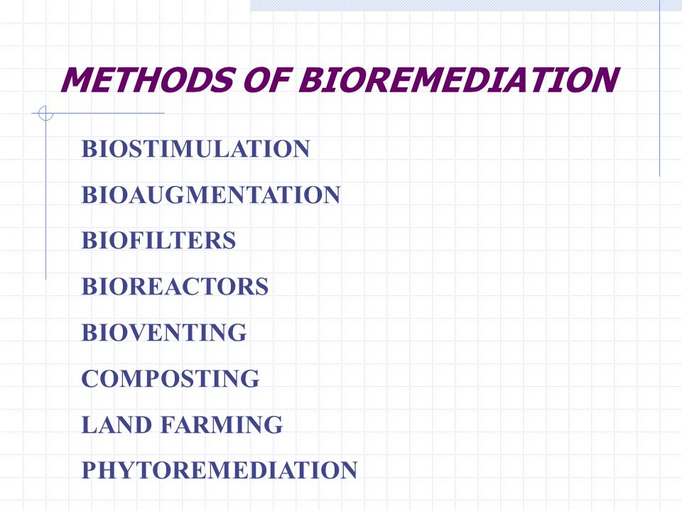 METHODS OF BIOREMEDIATION