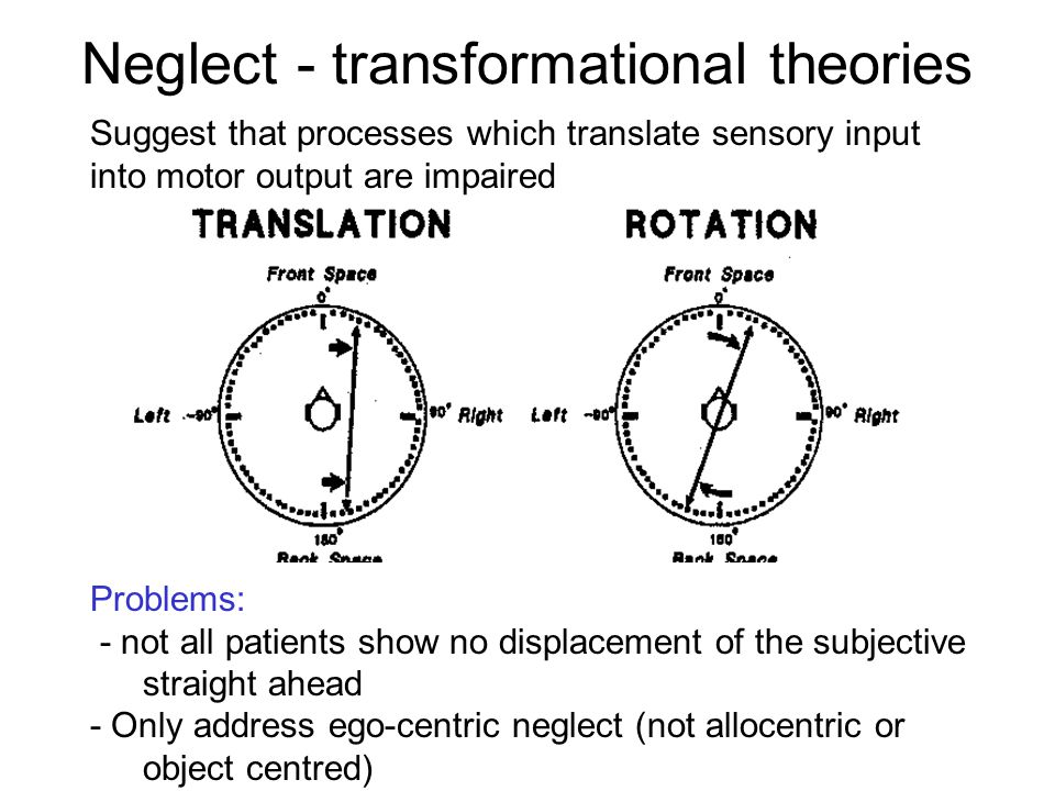 Neglect - transformational theories