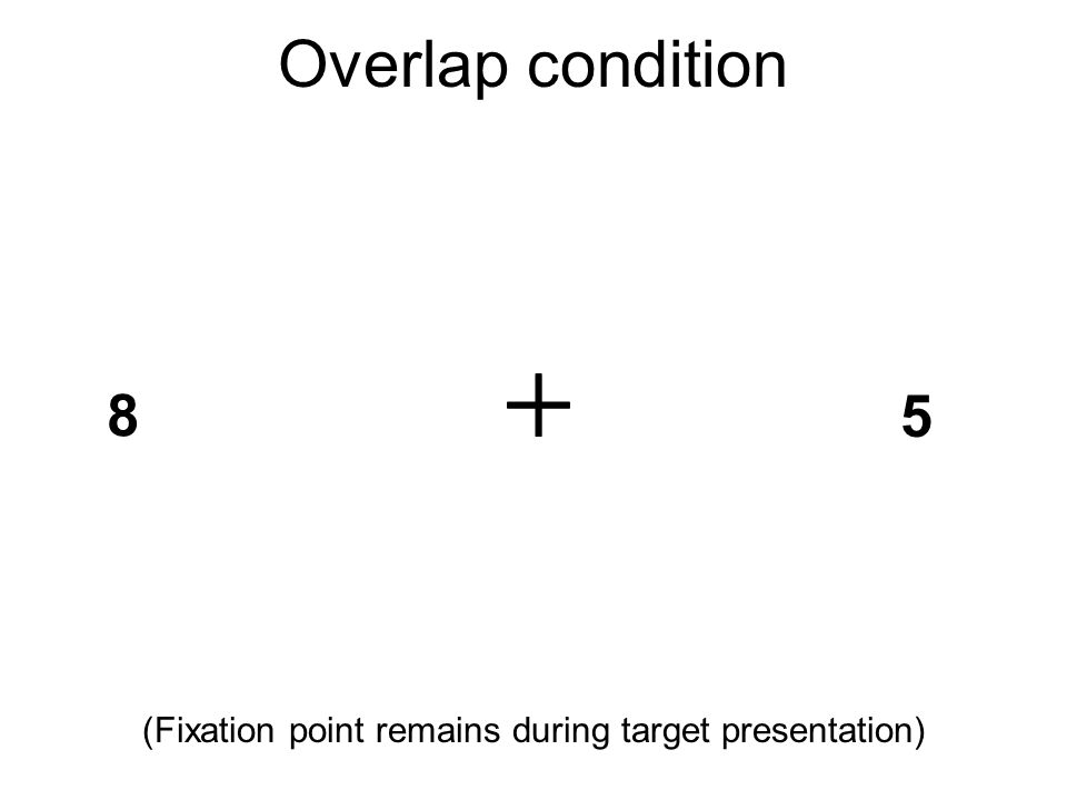 (Fixation point remains during target presentation)