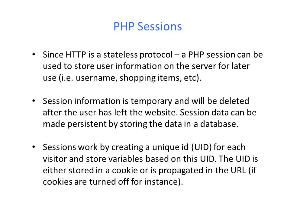 PHP Sessions