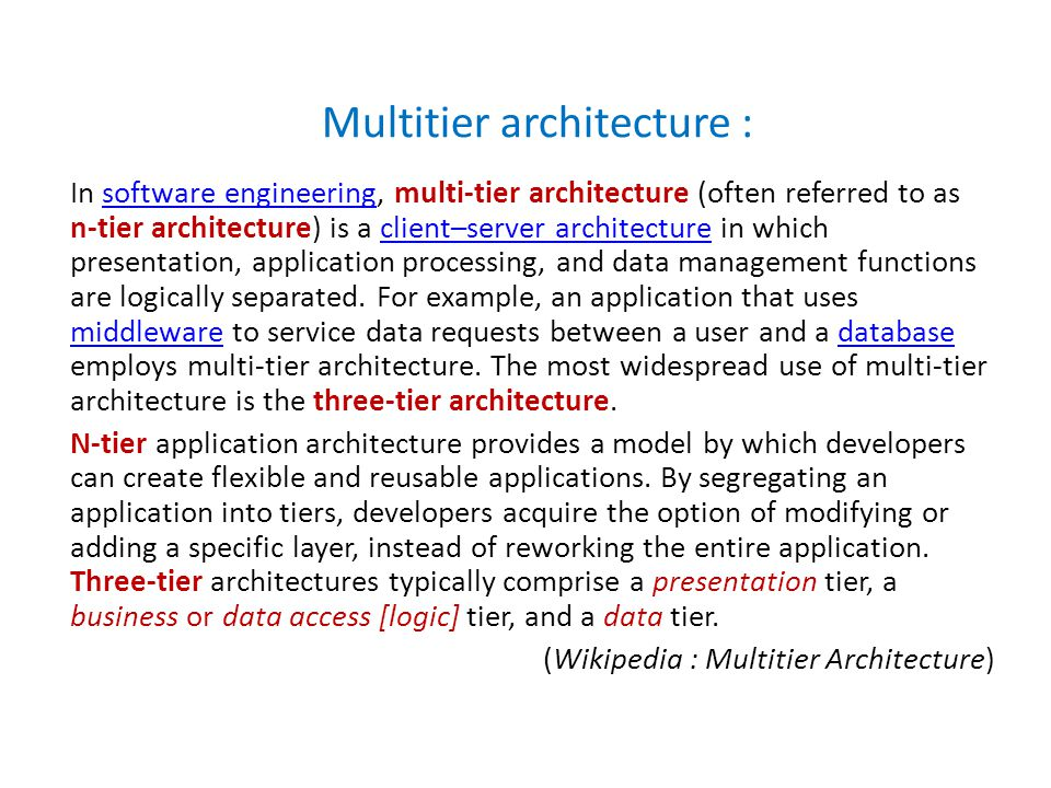 Multitier architecture :