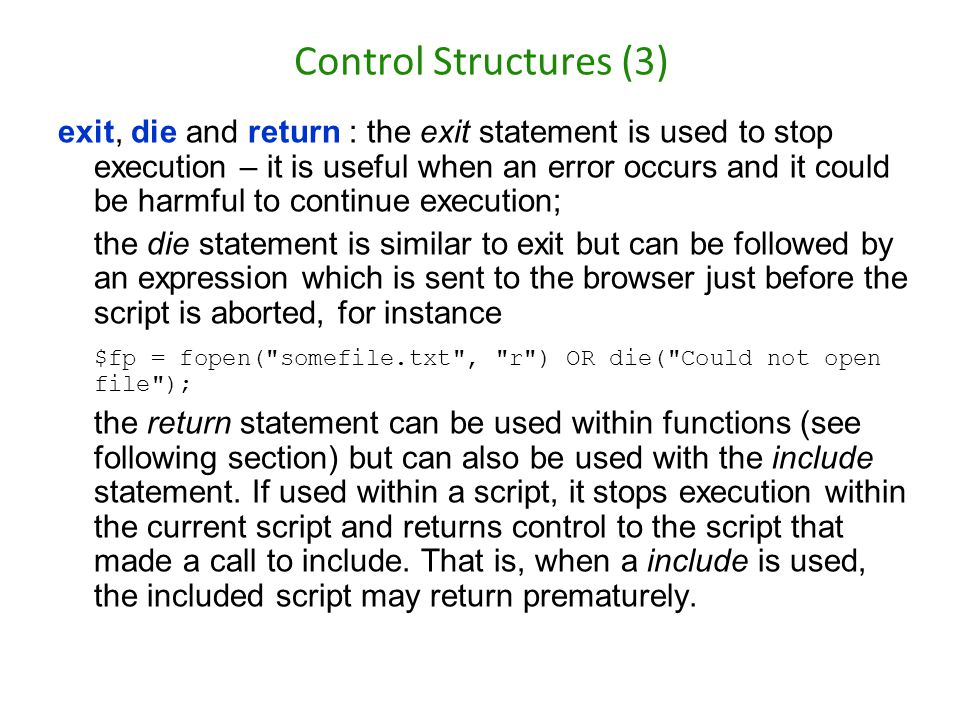 Control Structures (3)