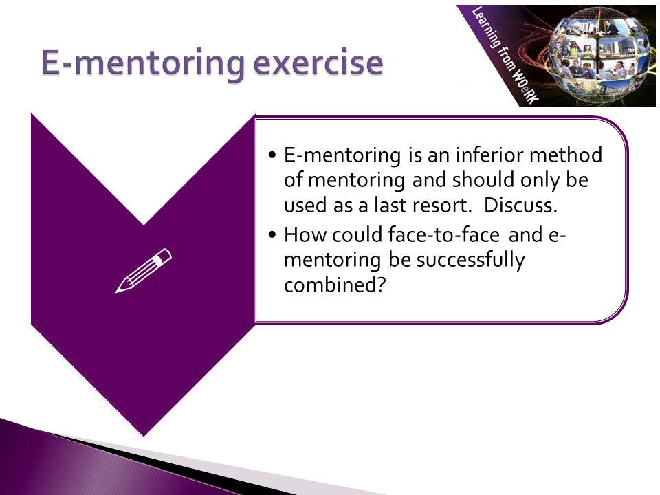  E-mentoring exercise