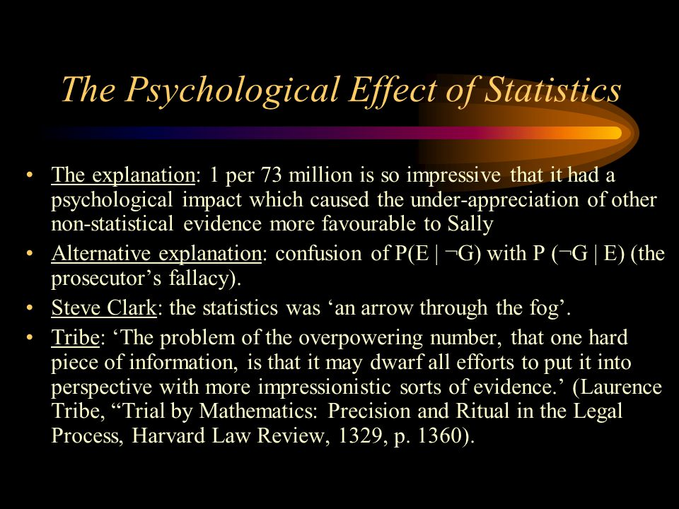 The Psychological Effect of Statistics