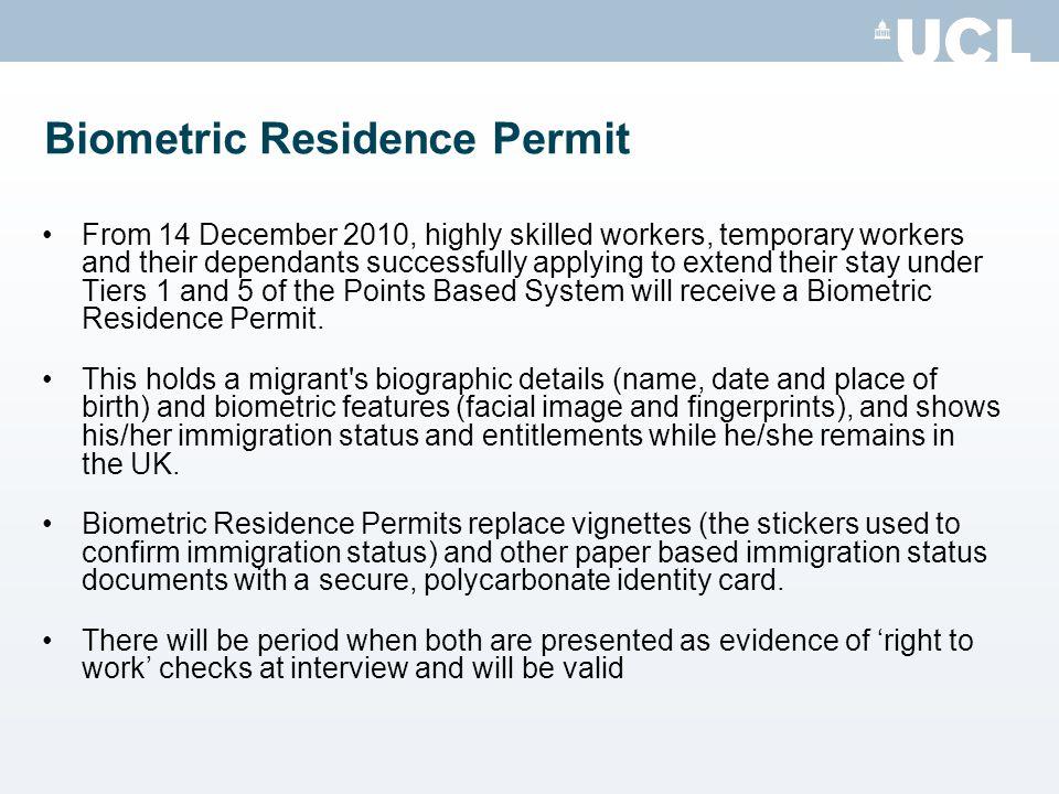 Biometric Residence Permit