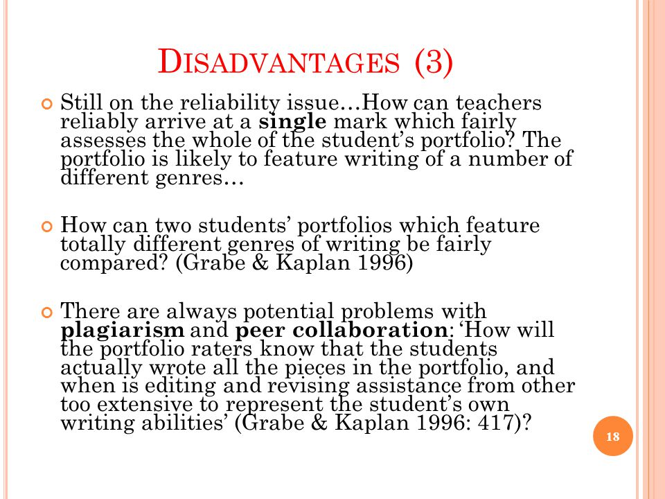 Disadvantages (3)
