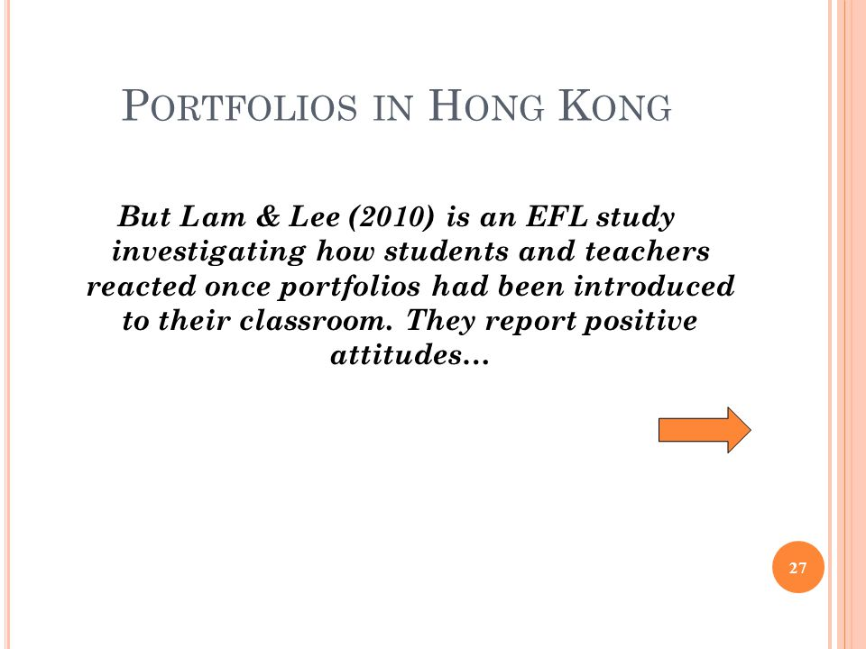 Portfolios in Hong Kong