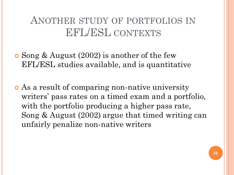 Another study of portfolios in EFL/ESL contexts
