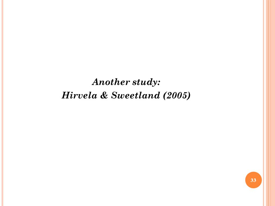 Another study: Hirvela & Sweetland (2005)