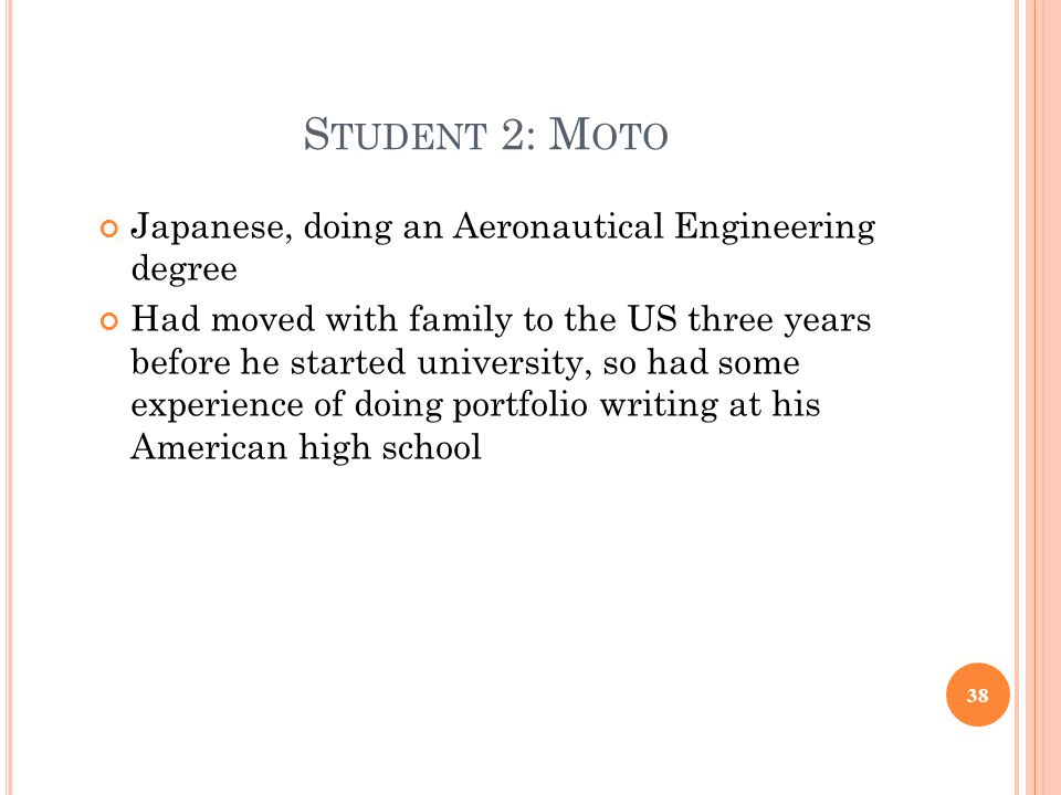 Student 2: Moto Japanese, doing an Aeronautical Engineering degree