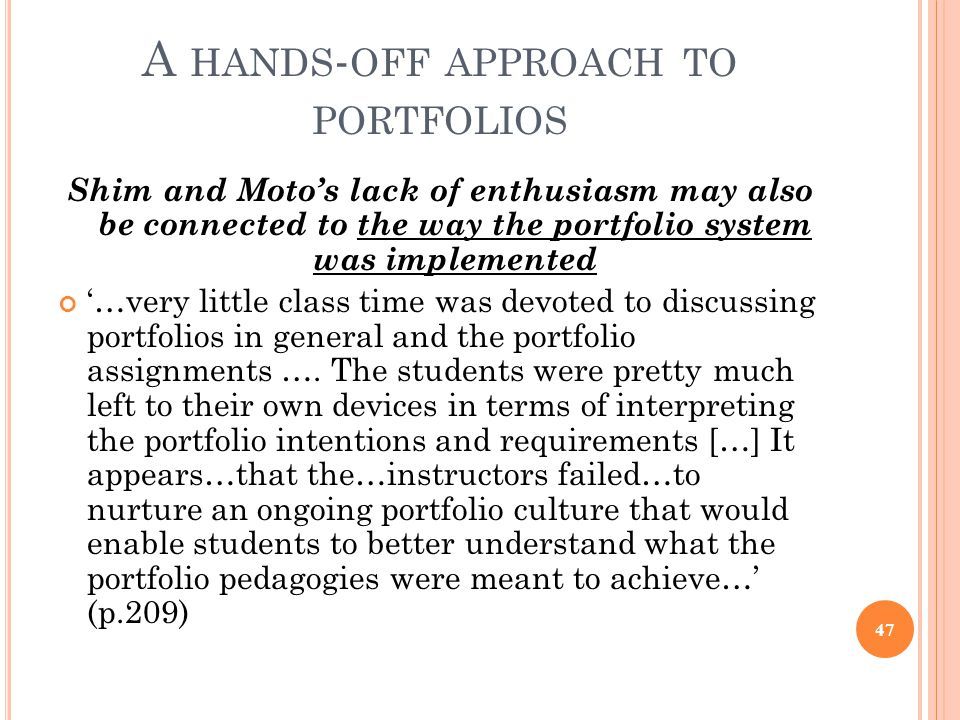 A hands-off approach to portfolios