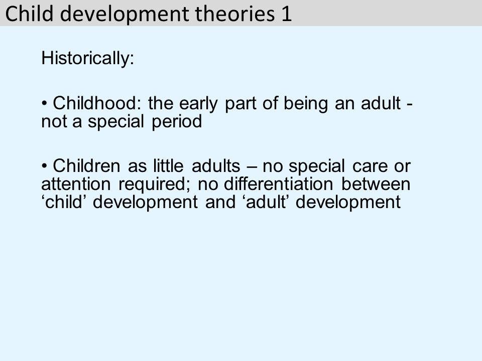 Child development theories 1