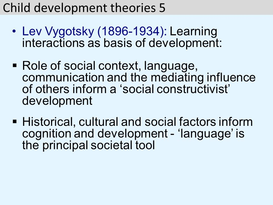Child development theories 5