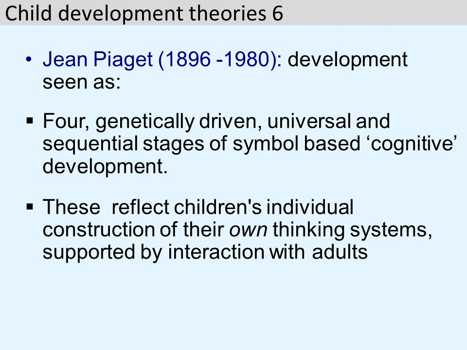 Child development theories 6
