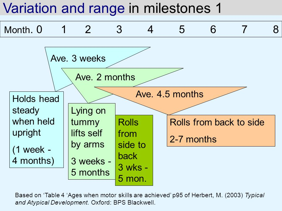 Variation and range in milestones 1