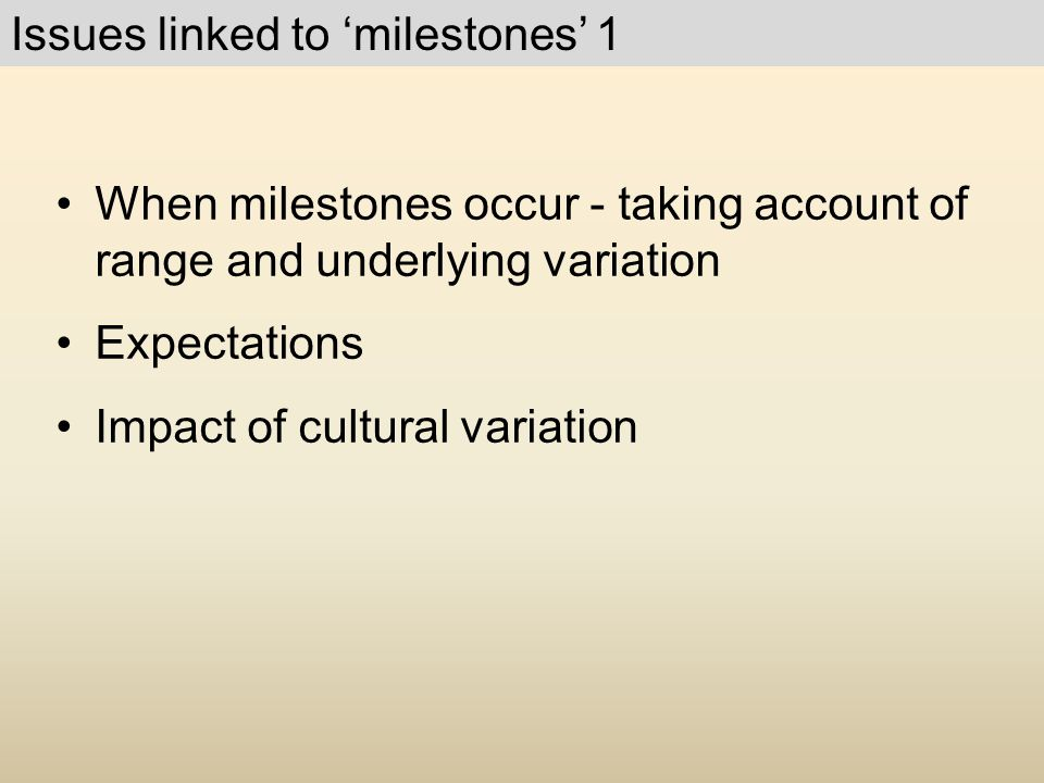 Issues linked to 'milestones' 1