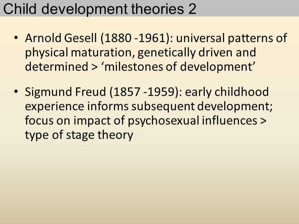 Child development theories 2