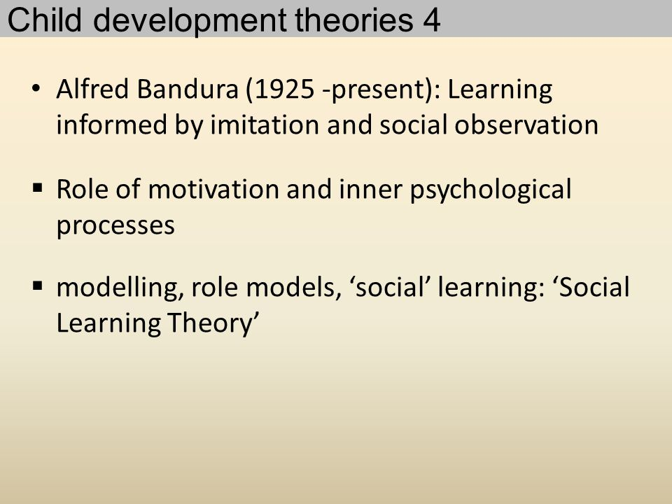 Child development theories 4