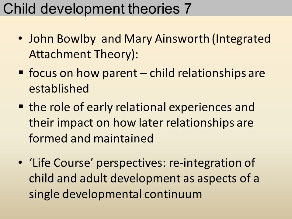 Child development theories 7
