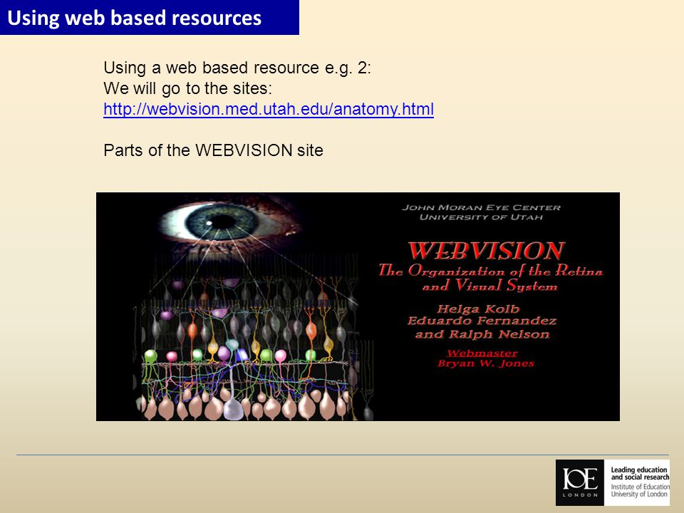 Using web based resources
