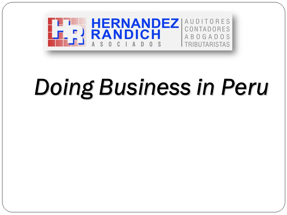 Doing Business in Peru