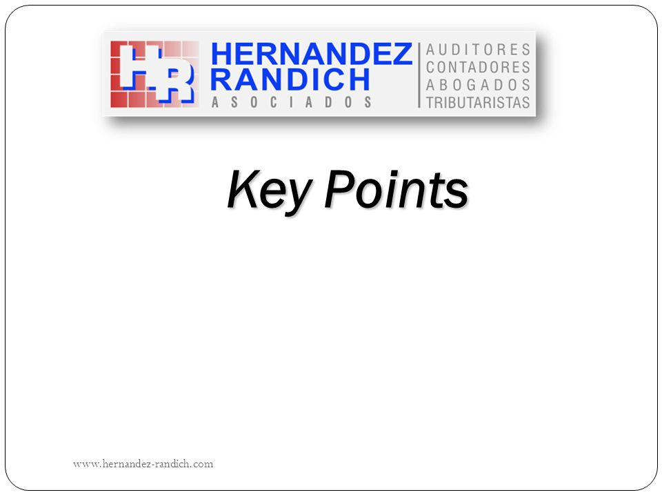 Key Points www.hernandez-randich.com