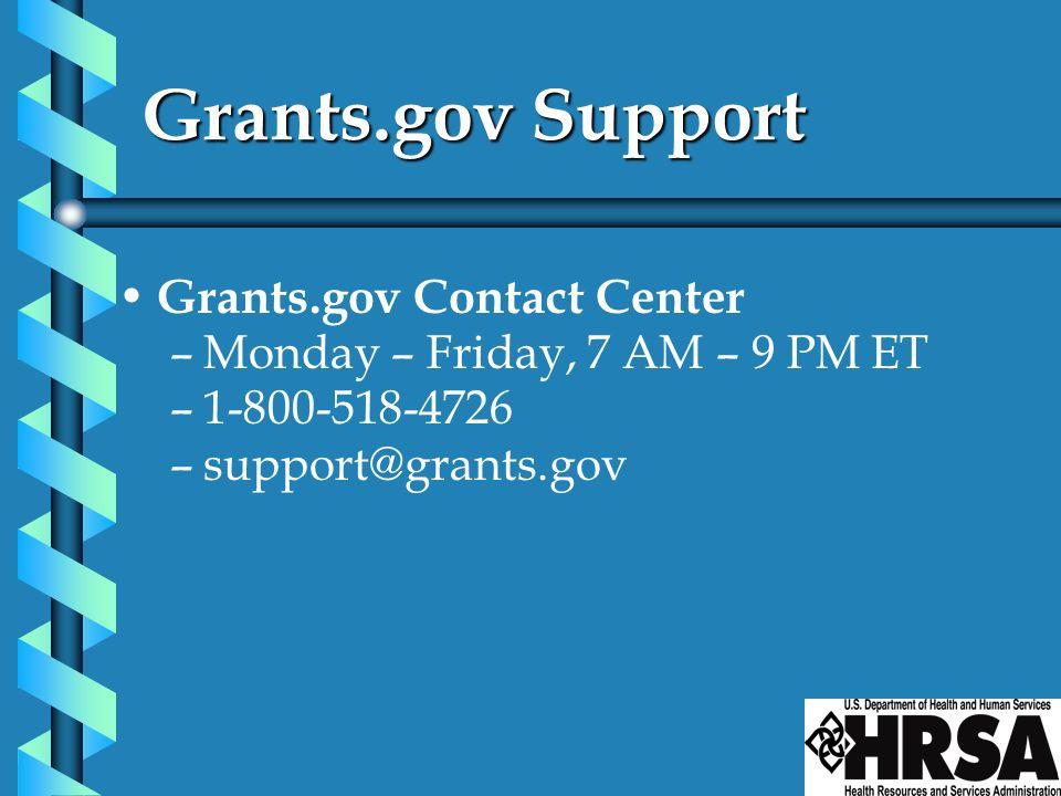 Grants.gov Support Grants.gov Contact Center