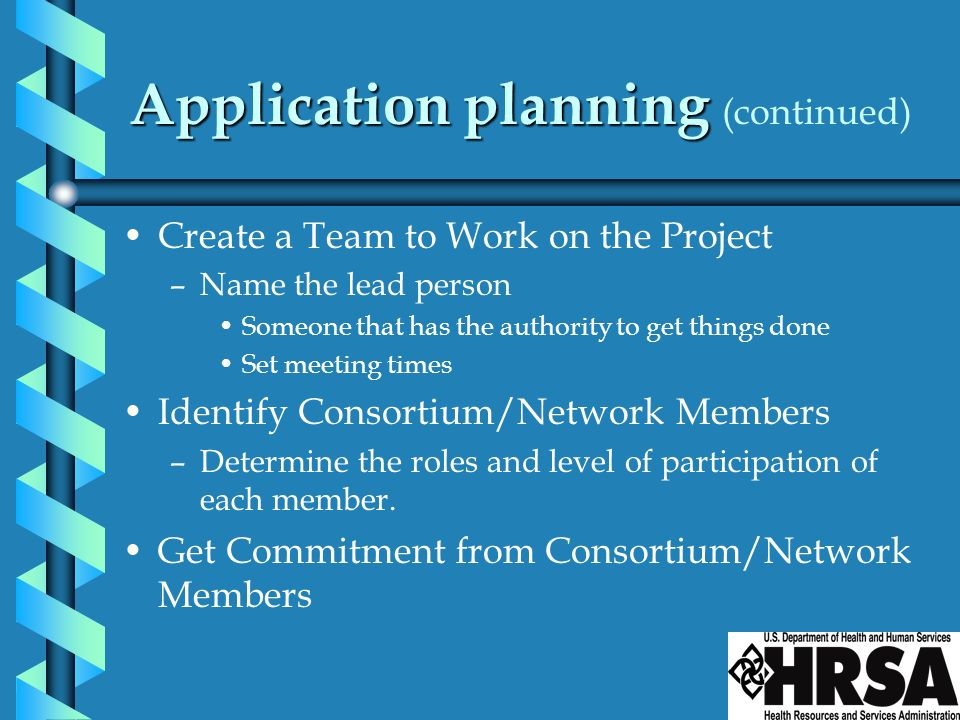 Application planning (continued)