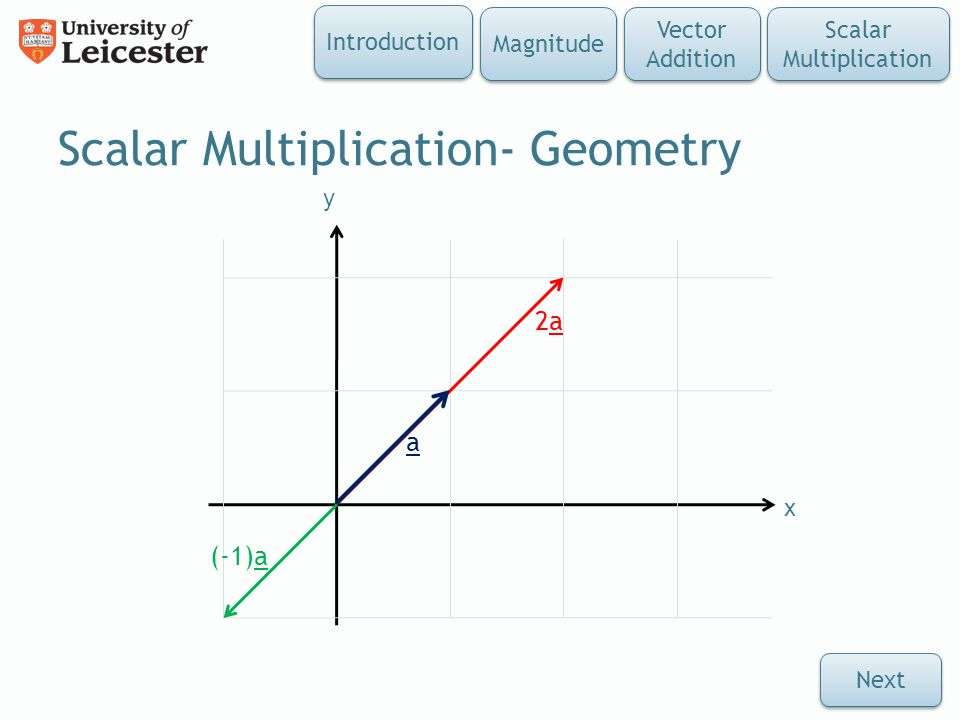 Scalar Multiplication- Geometry