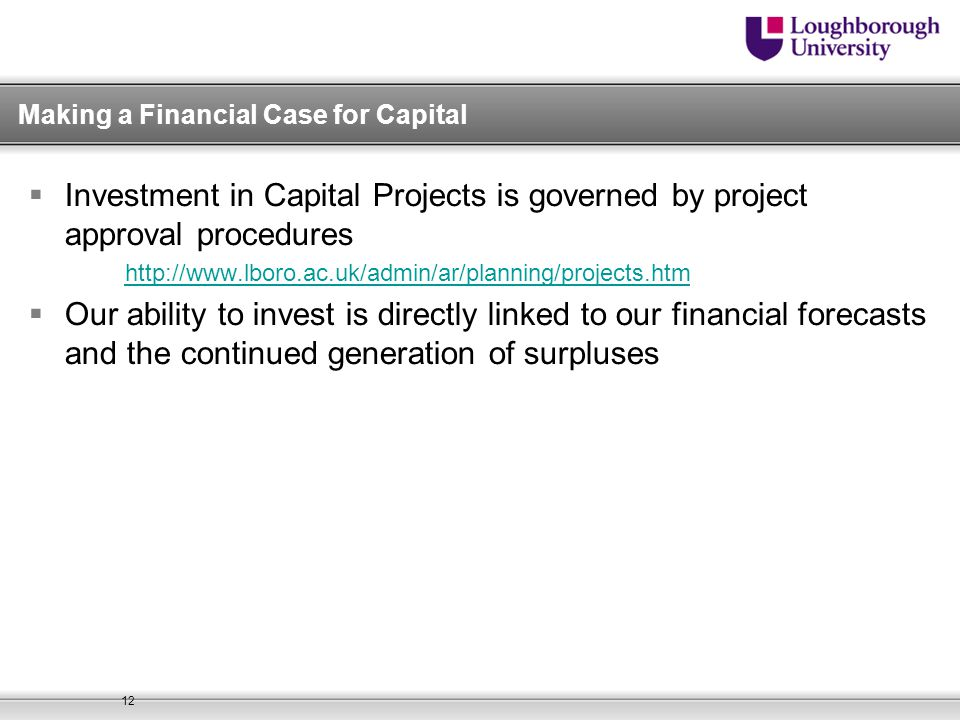 Making a Financial Case for Capital