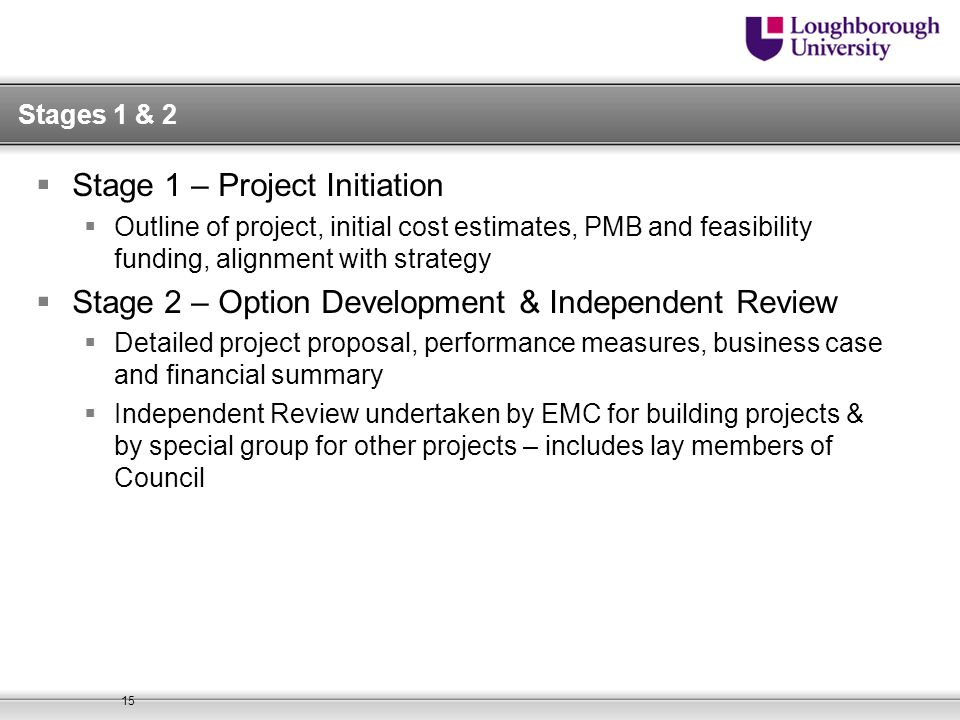 Stage 1 – Project Initiation
