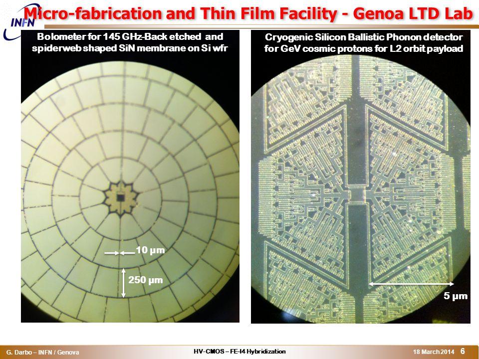 Micro-fabrication and Thin Film Facility - Genoa LTD Lab