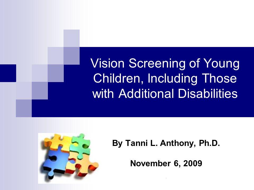 By Tanni L. Anthony, Ph.D. November 6, 2009 .
