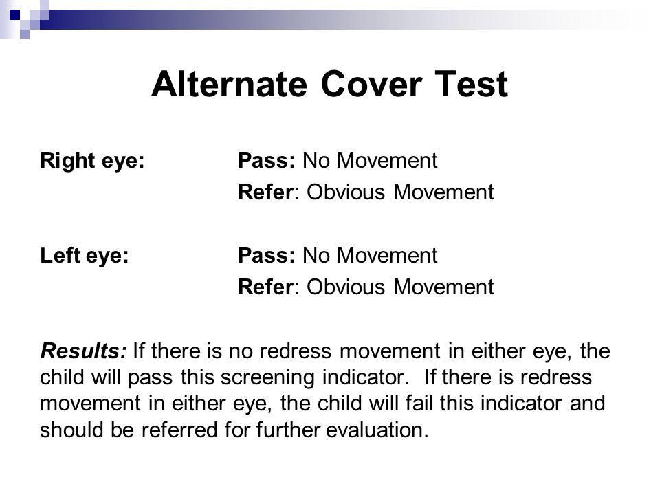 Alternate Cover Test