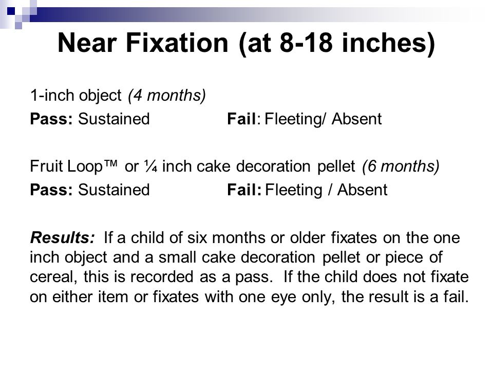 Near Fixation (at 8-18 inches)