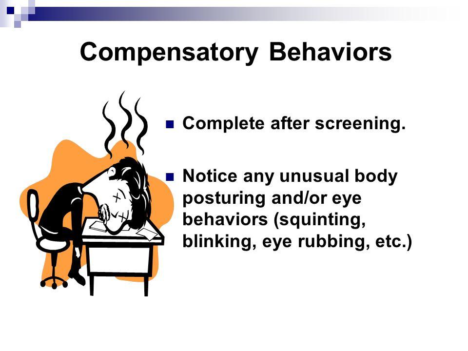 Compensatory Behaviors